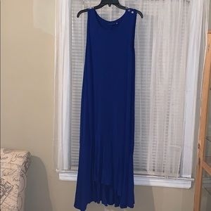 Blue long maxi dress
